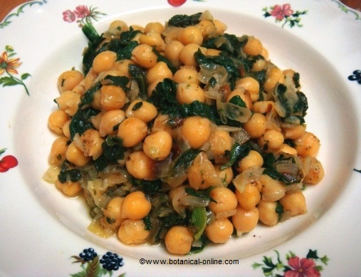 chikpeas with spinach