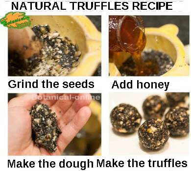 Step by step recipe of natural truffles