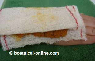 anti-inflammatory turmeric poultice.