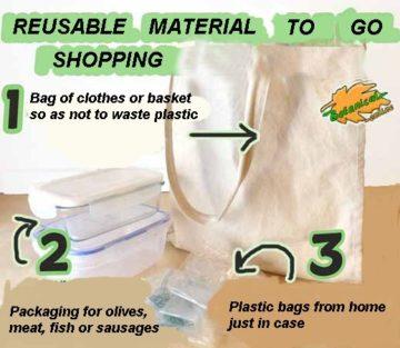 Reusable material to go shopping