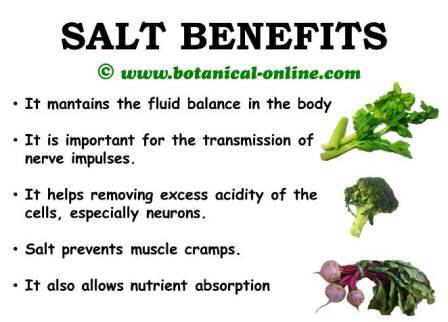 Salt health benefits