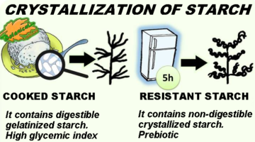crystallization of cooked to resistant starch