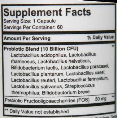 etiqueta suplemento probiotico capsulas comprimidos colon calmflora