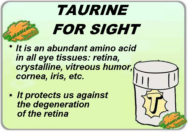 taurine properties and benefits for eyesight and diseases of the eyes
