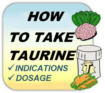 How to take taurine supplements