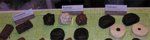 Photo of different types of chocolate