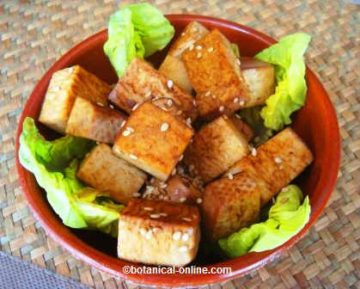 Tofu dish with soy sauce