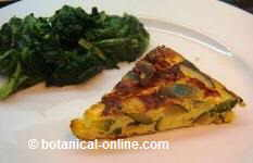 Zucchini omelette with onion