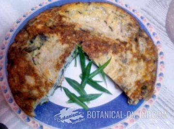 Bladder campion omelet