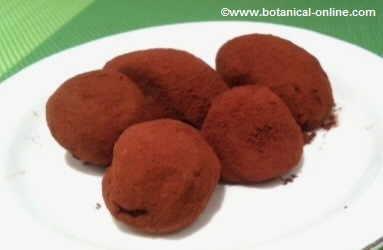 Green tea truffles with chocolate