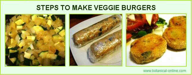 veggie burgers making process
