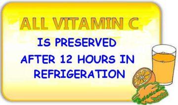 myth orange juice loses vitamin C i