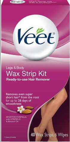 An example of wax strip kit