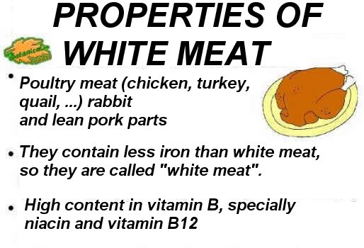 general characteristics of white meat