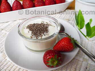 Yogurt with ground chia seeds