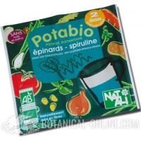 Sopa de verduras con espirulina de sobre ecológica Natali