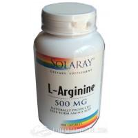 Arginina 500mg 100 cápsulas Solaray