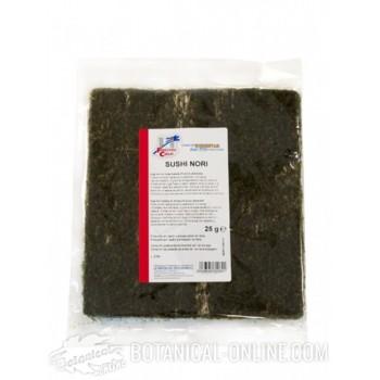 Láminas de alga Nori ecológica para sushi
