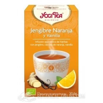 Propiedades Jengibre, Naranja y Vainilla Yogi Tea