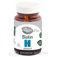 Biotina (Vitamina H) 100comp 300mg El Granero