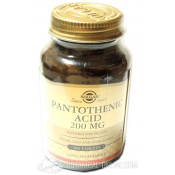 Suplemento Ácido pantoténico - Vitamina B5 Solgar