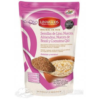 Semillas lino, almendras, nueces del Brasil y coenzima Q10 Linwoods