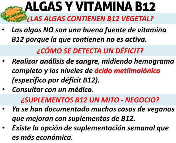 vitamina b12 algas contiene analogos vitamina activa, mitos de los suplementos