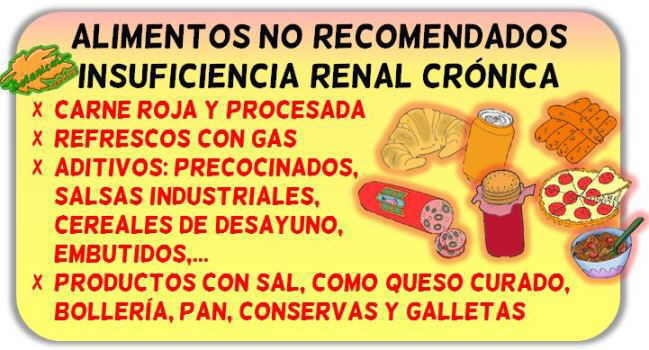 alimentos recomendados insuficiencia renal cronica IRC severa
