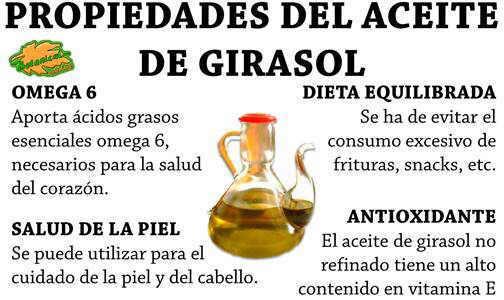 propiedades y beneficios del aceite de girasol
