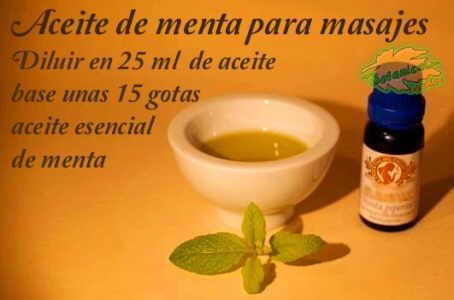 aceite de menta para masajes elaboracion con aceite esencial