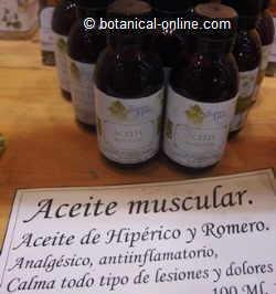 aceite muscular de hipérico y romero