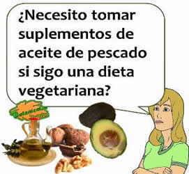 suplementos aceite pescado dieta vegetariana