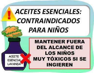 contraindicaciones aceites esenciales para bebes niños infantil