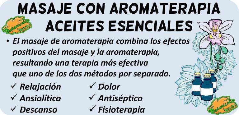 masaje aromaterapia aceites esenciales propiedades