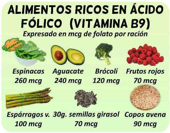 alimentos ricos en acido folico con mucha vitamina b9 embarazo corazon