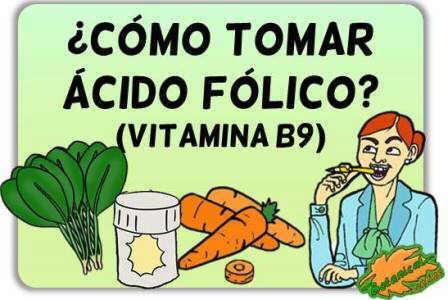acido folico como tomar