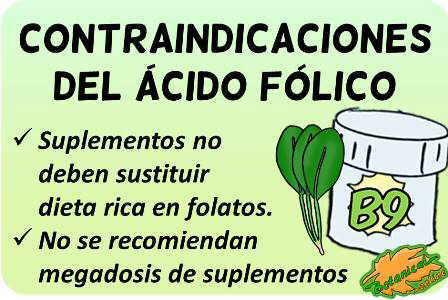contraindicaciones del acido folico vitamina b9