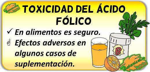 toxicidad acido folico