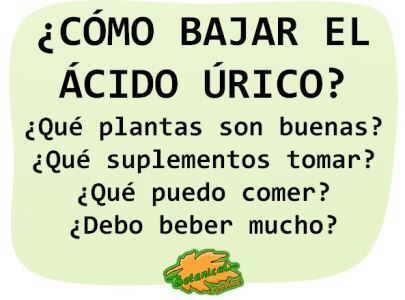 Alimentos que se deben consumir para evitar el acido urico