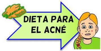 dieta para el acne