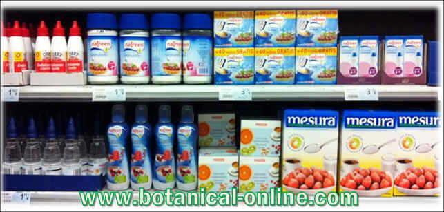 aditivos edulcorantes no caloricos