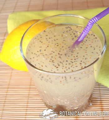 agua fresca de chia con limon