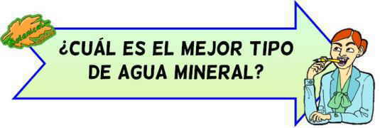 tipos de agua mineral