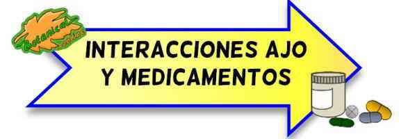 interacciones del ajo para medicamentos y fármacos