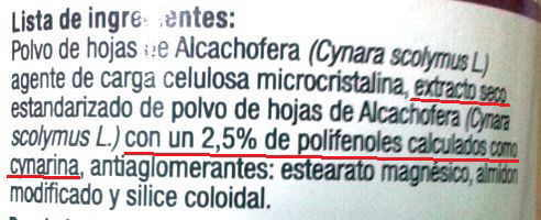 ingredientes alcachofera