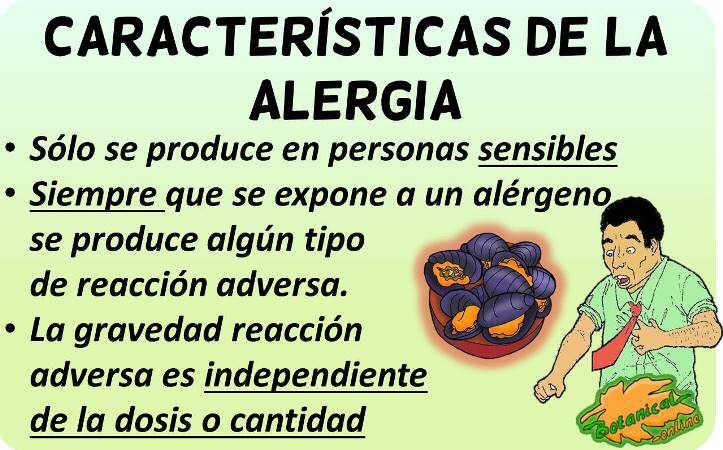 caracteristicas definicion alergia