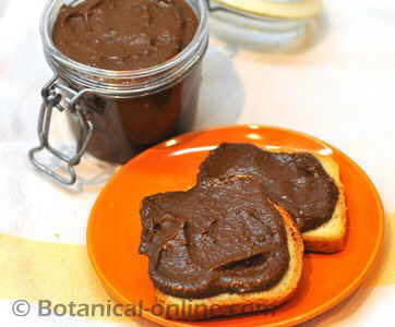 receta facil nocilla o nutella casera con algarroba y dátiles