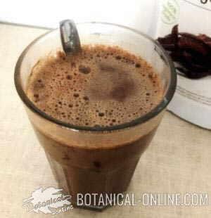 chocolate algarroba a la taza receta