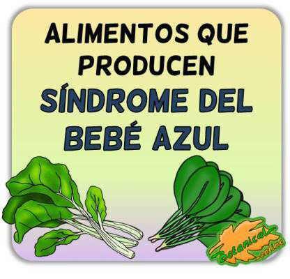 metahemoglobinemia alimentos nitratos sindrome bebe azul