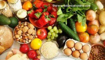 alimentacion alimentos colores
